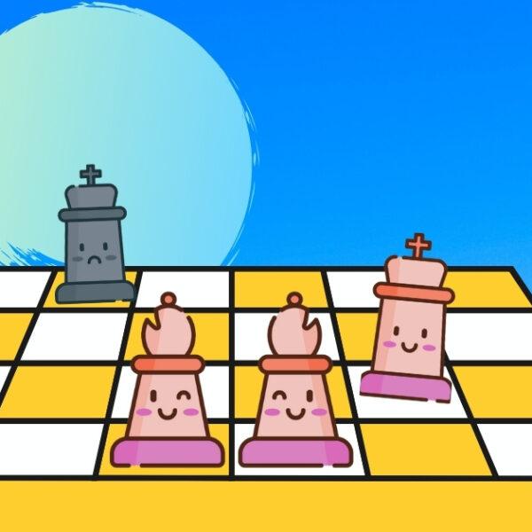 Cách đơn giản để chiếu bí bằng 2 Tượng | Blog cờ vua
